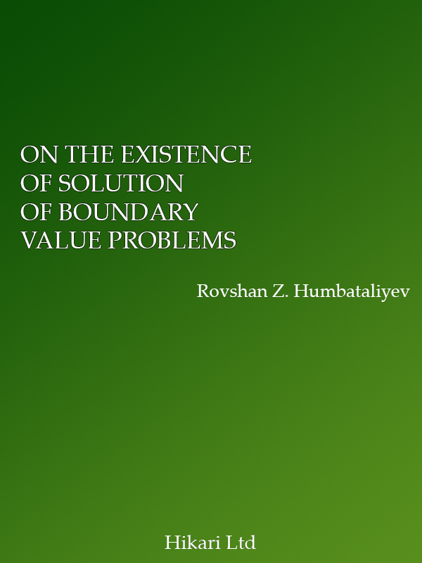 ON THE EXISTENCE OF SOLUTION OF BOUNDARY VALUE PROBLEMS