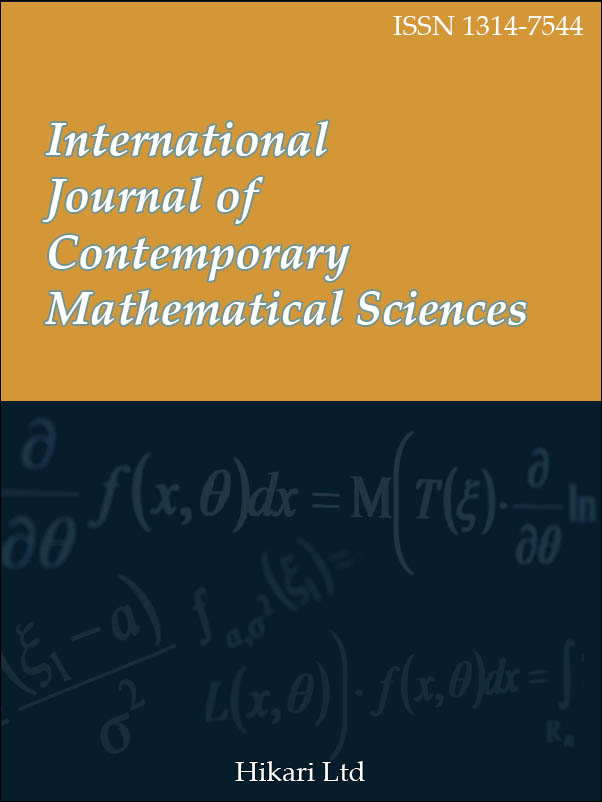 International Journal of Contemporary Mathematical Sciences