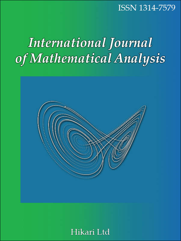 International Journal of Mathematical Analysis