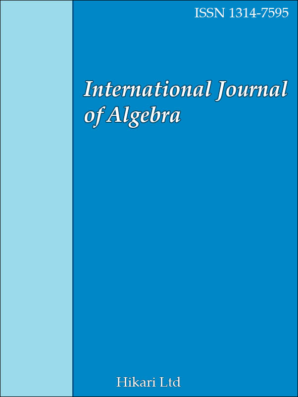 International Journal of Algebra